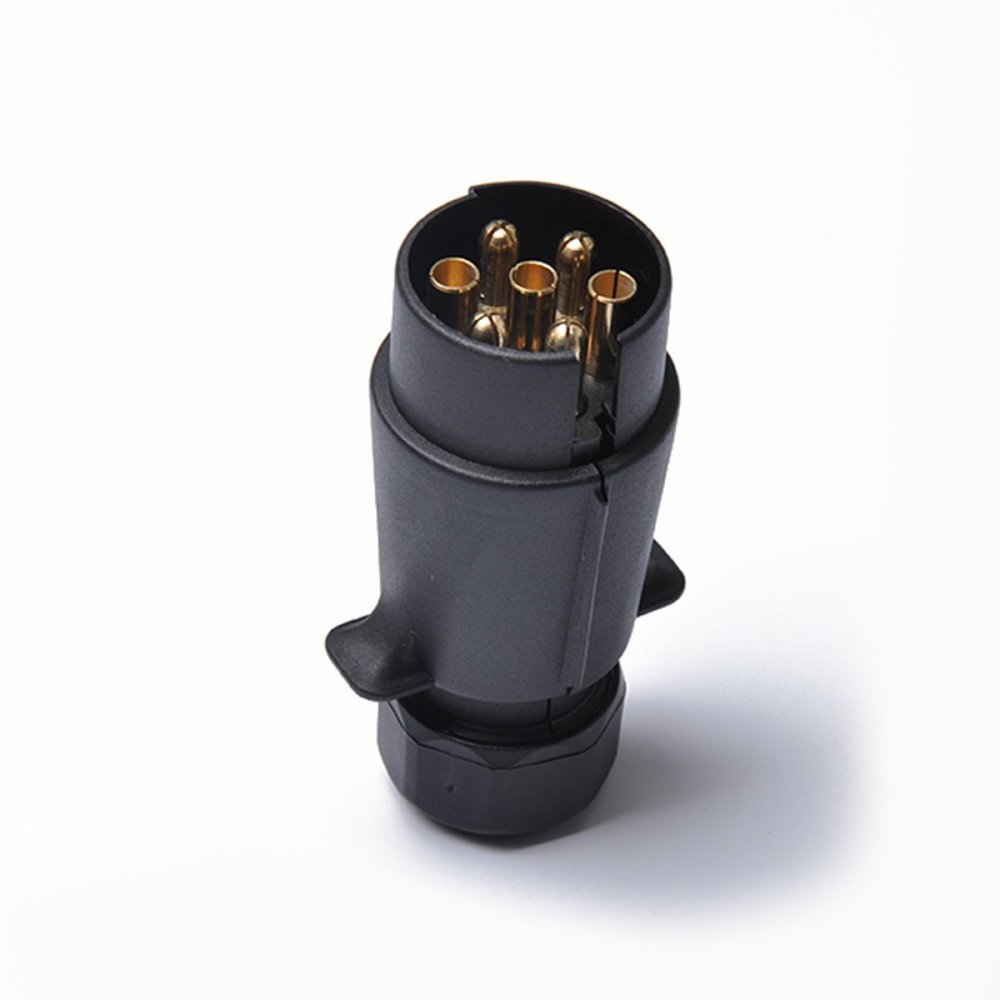 medium resolution of get quotations professional 12v 7 pin trailer plug round pin trailer wiring connector 7 poles