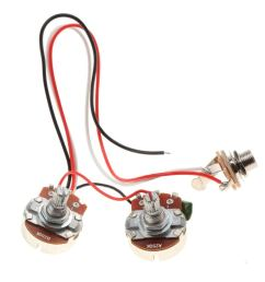 get quotations baoblaze bass wiring harness 3 way toggle switch 250k 24mm diameter pots for bass [ 1024 x 1024 Pixel ]