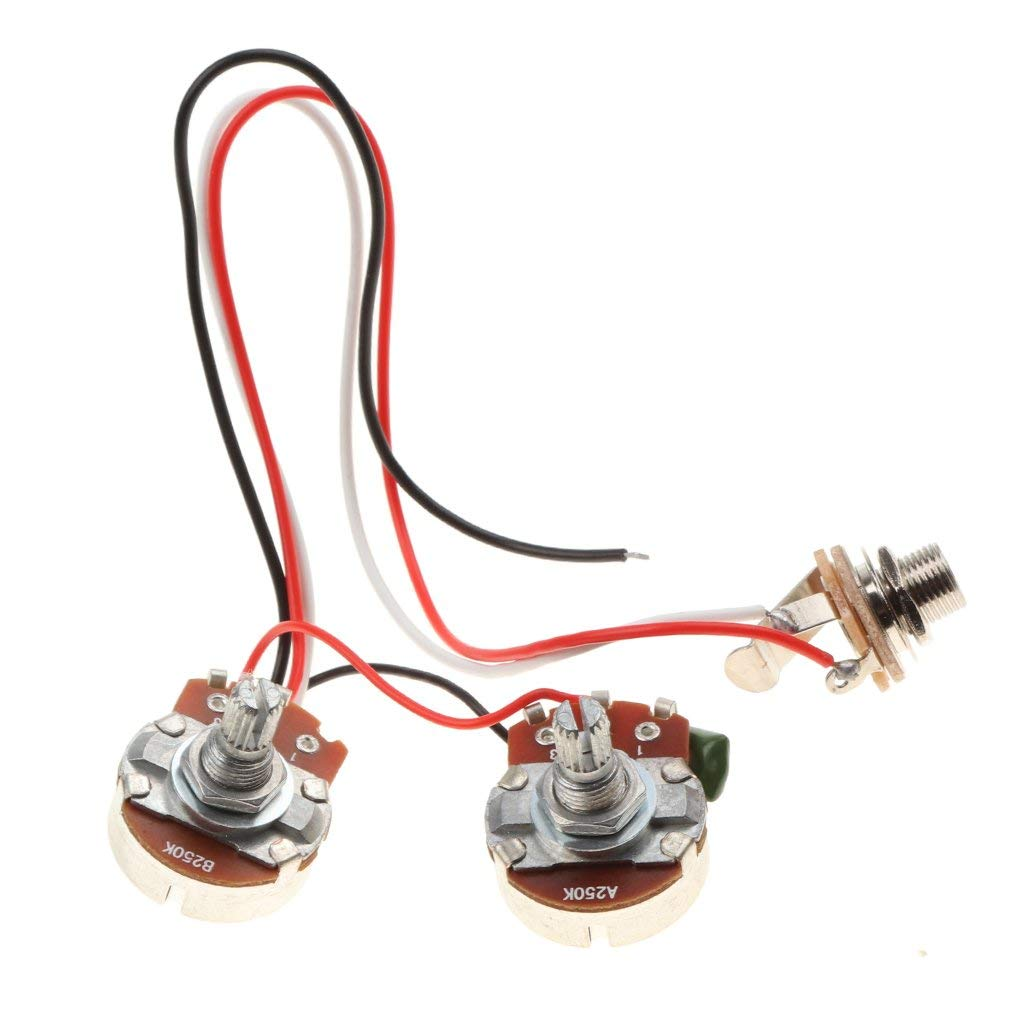 hight resolution of get quotations baoblaze bass wiring harness 3 way toggle switch 250k 24mm diameter pots for bass