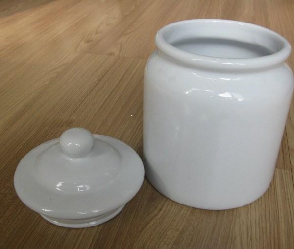 White Ceramic Cookie Jar