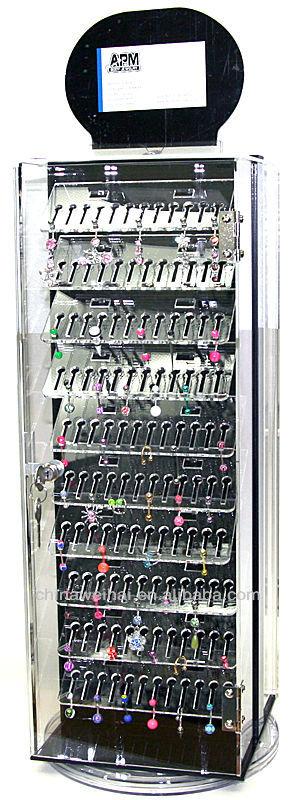 Portable Jewelry Display Case : portable, jewelry, display, Rotating, Clear, Portable, Jewelry, Display, Retail, Cabinet, Piercings, Locks, Case,, Cabinet,, Weihai, Product, Details, Jinhua, Plexiglass, Alibaba.com