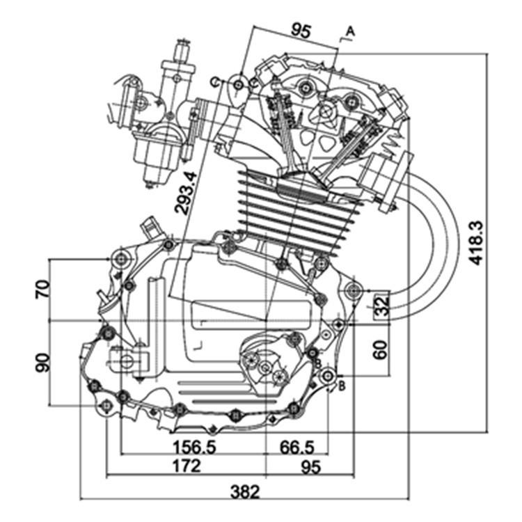 150cc motor da motocicleta para Honda CG150 motocicleta
