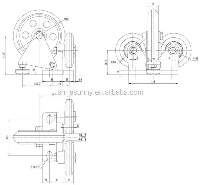 Iso Elevator Spare Parts Lift Roller Guide Shoe (sn-rgs