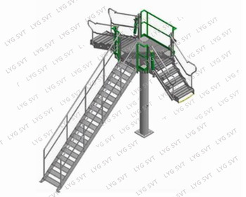 Folding Ladder Stairs For Safe Access To Truck / Train
