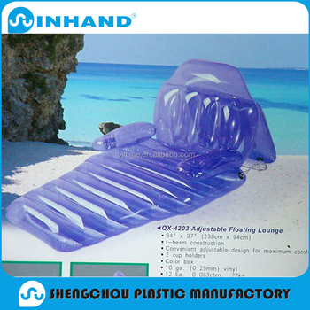 pool floating lounge chairs lavender banquet chair covers durable inflatable float pvc recliner