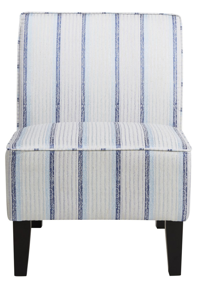 Blue Slipper Chair Buy Pri Striped Armless Slipper Chair In Blue And White In Cheap