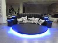 Hot Sale Modern Led Music Round Bed Frame In China Cy006 ...