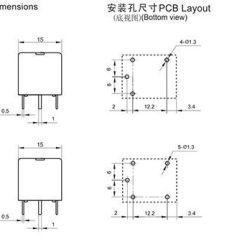 24v Relay Wiring Diagram 5 Pin 2004 Chevy Truck Radio Spdt 5pin Schematic Jqc 3f T73 Pcb 12v 10a Buy
