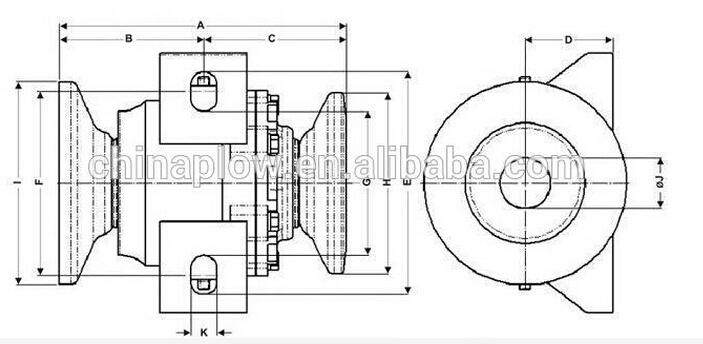 Agricultural Parts Harrow Bearing / Bearing Assembly