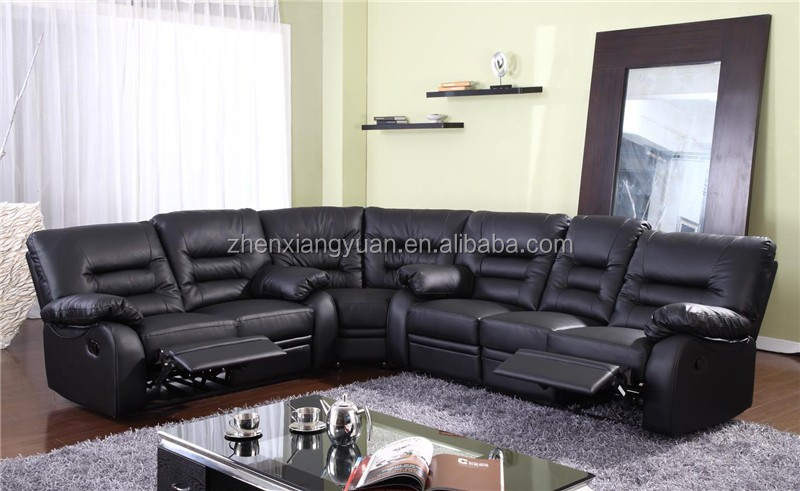 large square corner sofa black and grey scs new style leather recliner set with wedge buy