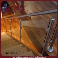 Staircase Glass Railing Designs/glass Railing Wood Stair