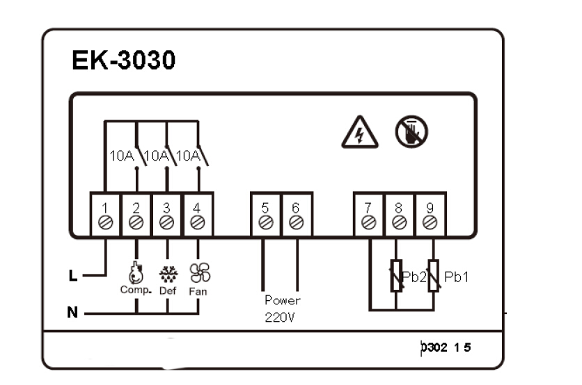 EK-3030 Temperature Controller, View Temperature
