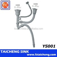 1.5 Inch Connection Kitchen Sink Drain Pipe And Strainer ...