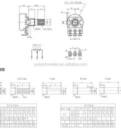 stereo potentiometer b503 volume control potentiometer [ 1000 x 806 Pixel ]