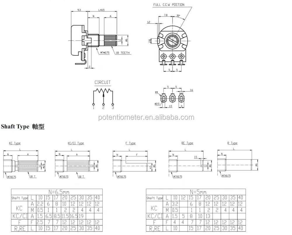 medium resolution of stereo potentiometer b503 volume control potentiometer