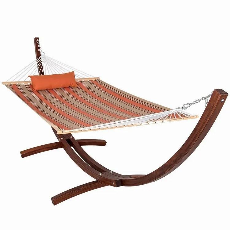 double hamac matelasse pour 2 personnes hamac de plage avec cadre en bois support en bois barres d extension et oreiller offre speciale buy hamac