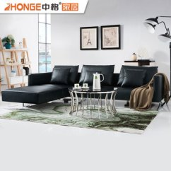 L Shaped Black Leather Sofa Set Oversized Sectional Sofas Toronto Guangzhou Furniture Living Room Full Grain New Design