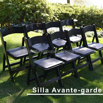 black padded folding chairs leather office johannesburg wooden chair used wedding buy