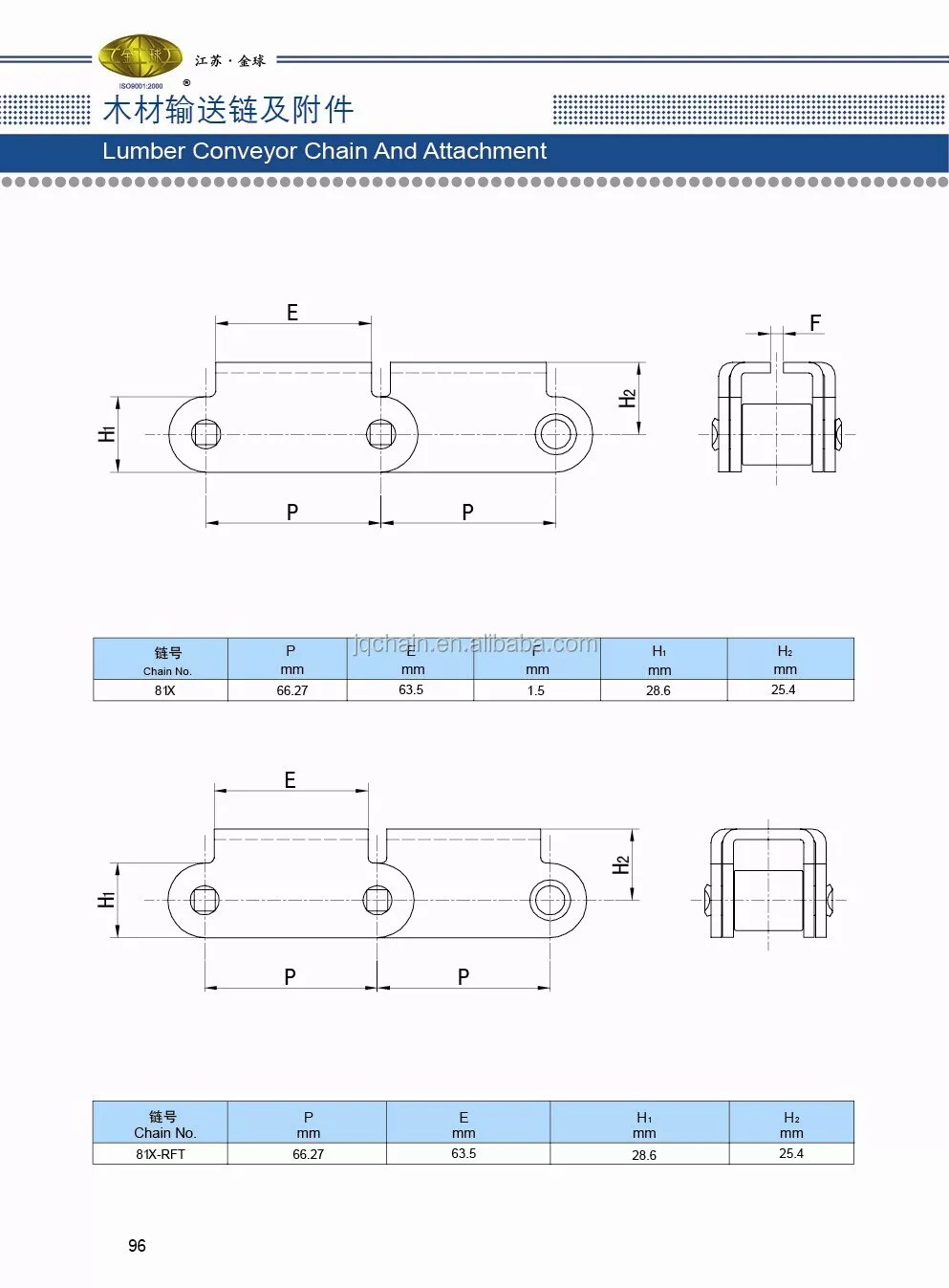 medium resolution of heavy duty pitch 81x chain lumber roller chain for transmission