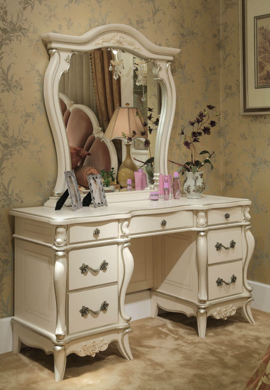 French Style Bedroom Dressing Table With MirrorClassic Elegant Turquoise Home Furniture  Buy