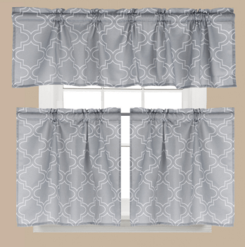 kitchen curtain sets cutler and bath printed curtains panels stock lots low moq