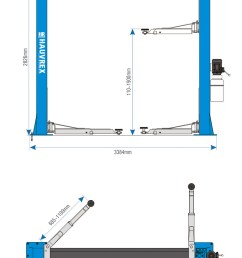 htl2140 4000kg lifting capacity 2 post car lift with dual side manual lock release and [ 772 x 1158 Pixel ]