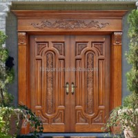 Luxury Exterior Wooden Double Door Designs