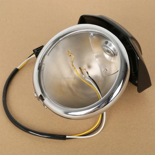 small resolution of xf2906290 e 5 75 headlight chrome housing bucket w mount bracket wire harness