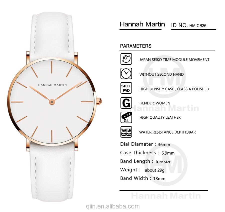 Stylish Casual Design Lady Stripes Watch Lady Wrist Watch