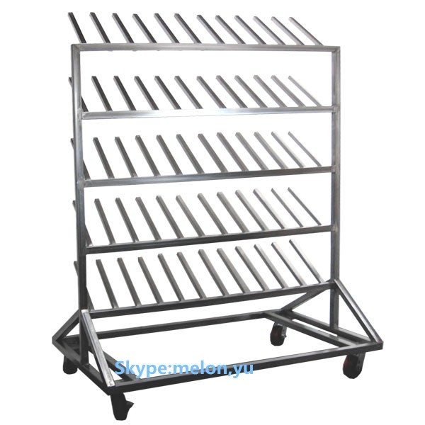 Stainless Steel Mobile Boot Rack 30 For Hospital Or Clean