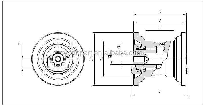 Kx161-3 Kubota Excavator Undercarriage Parts Mini