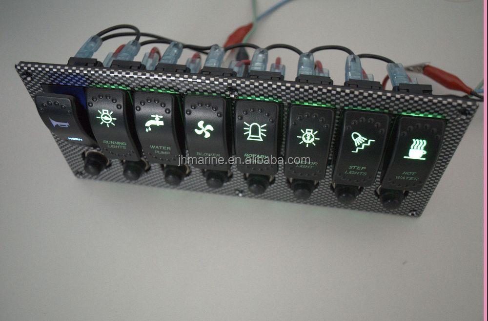Marine Rocker Switches Wiring Diagram 12v 24v 8 Gang Waterproof Bus Marine Boat Bridge Control