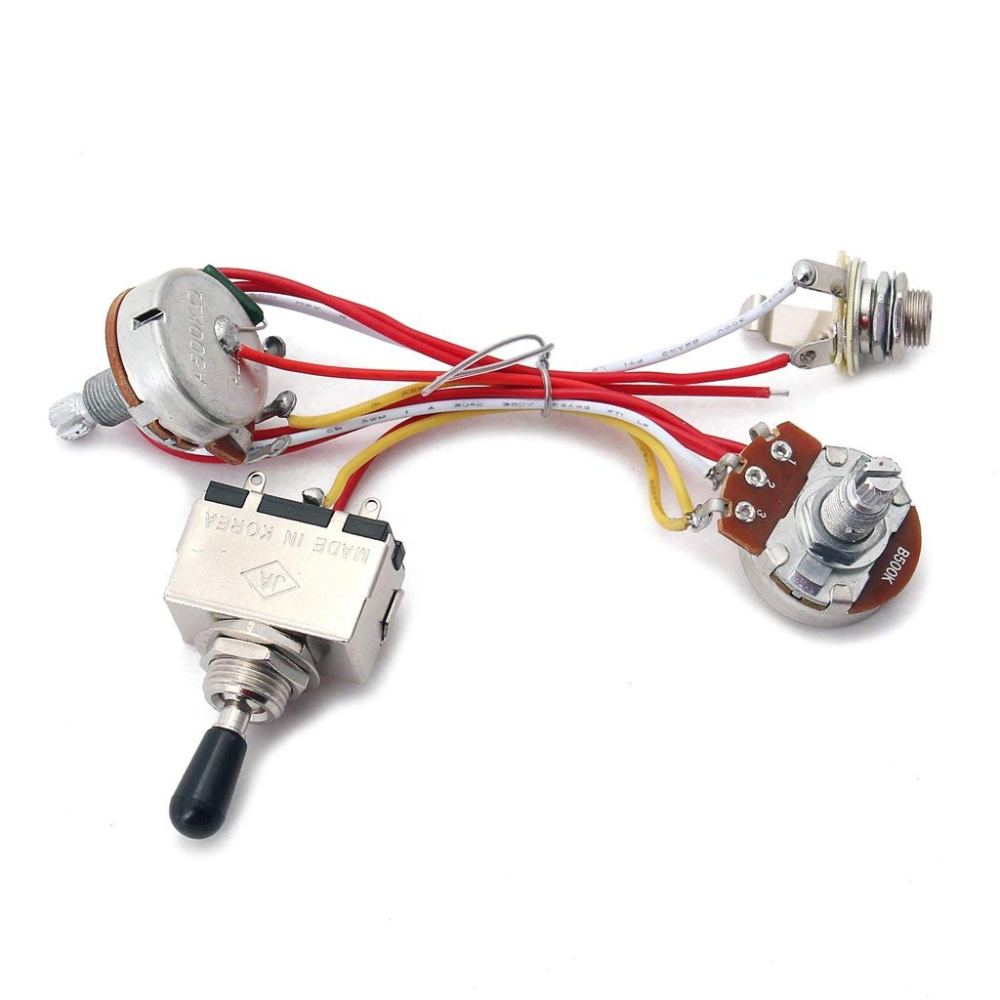 medium resolution of cheap guitar wiring parts find guitar wiring parts deals on line at 2v 2t 4500k pots 3way switch input jack wiring for gibson lp guitar