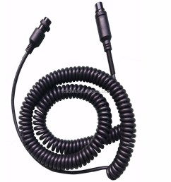 female to female m16 gx16 5 pin audio auto truck tractor bus coiled cable spiral cord [ 909 x 1000 Pixel ]