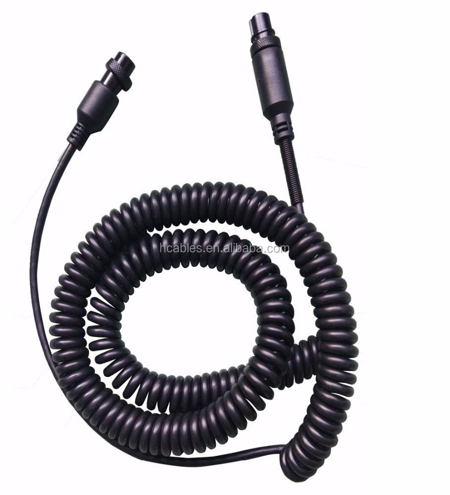 hight resolution of female to female m16 gx16 5 pin audio auto truck tractor bus coiled cable spiral cord