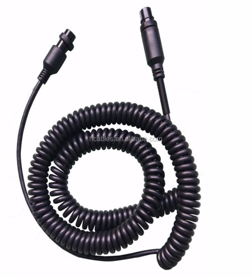 small resolution of female to female m16 gx16 5 pin audio auto truck tractor bus coiled cable spiral cord