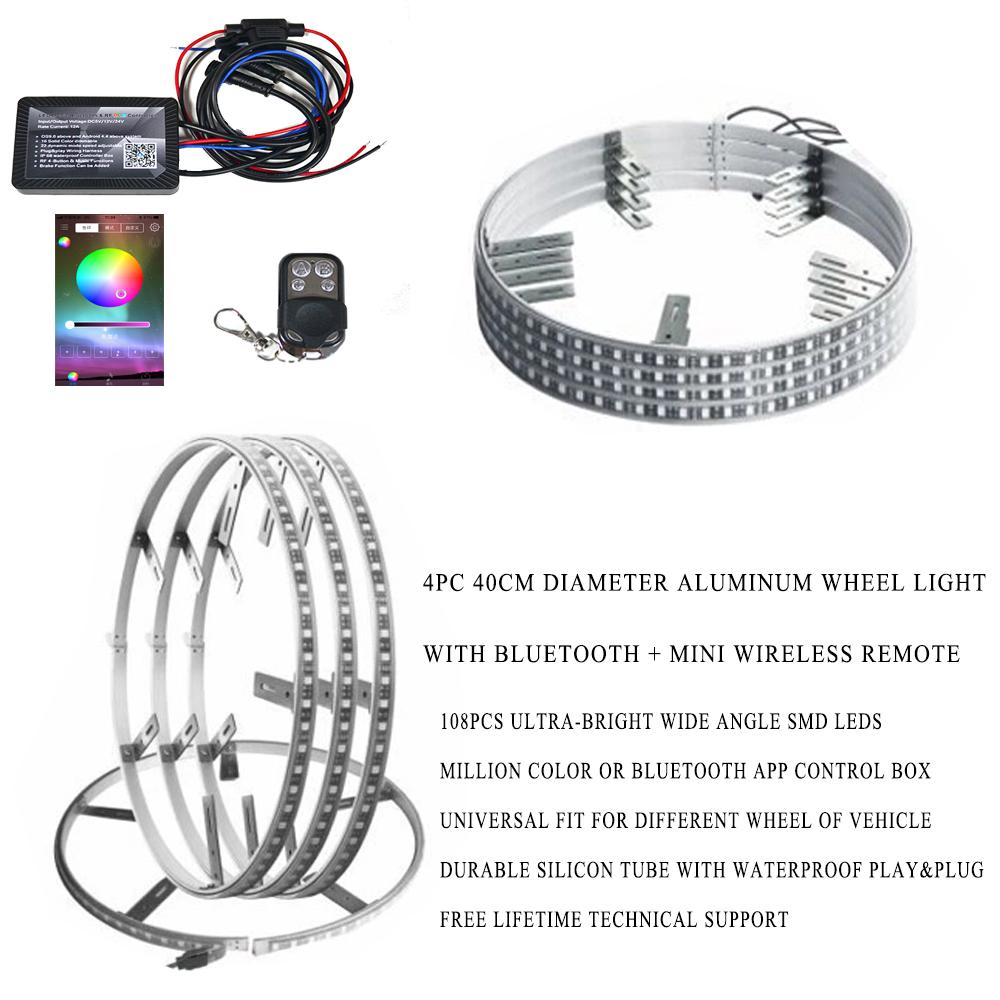 High Quality Multi-color Led Light Waterproof 4pc 40cm