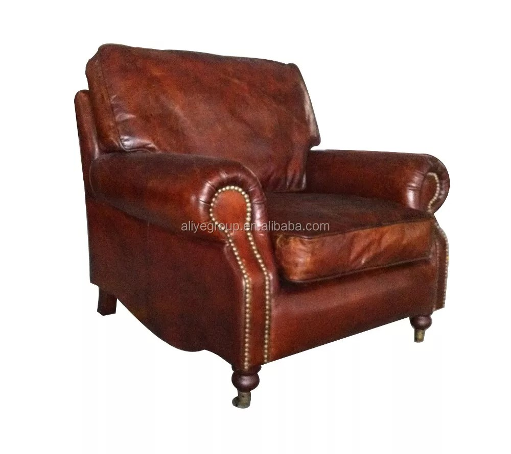 Rustic Leather Chairs Pk 5061 Antique Single Sofa Upholstered Rustic Leather Old Style Sofa Buy Pure Leather Sofa Set Leather Sofa Set 3 2 1 Seat Furniture Living Room