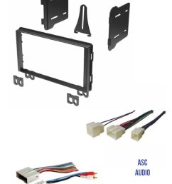 get quotations asc audio double din car stereo radio install dash kit and wire harness for select ford [ 1200 x 1571 Pixel ]