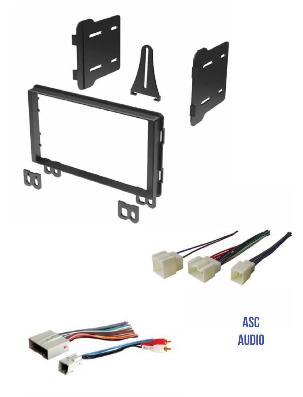 medium resolution of get quotations asc audio double din car stereo radio install dash kit and wire harness for select ford