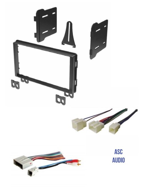 small resolution of get quotations asc audio double din car stereo radio install dash kit and wire harness for select ford