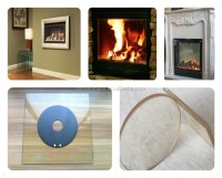 Ceramic High Temperature Resistant Fireplace Glass/ Heat