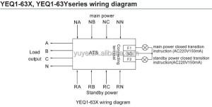 Yeq163 Automatic Transfer Switch In Circuit Breakerauto