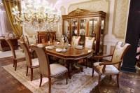0062 European Luxury Wooden Furniture Design Oval ...