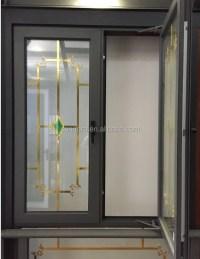 Swing Aluminum Window Grill Design Inside Double Glass ...