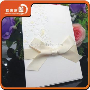 Simple Design Handmade Por Wedding Invitation Card