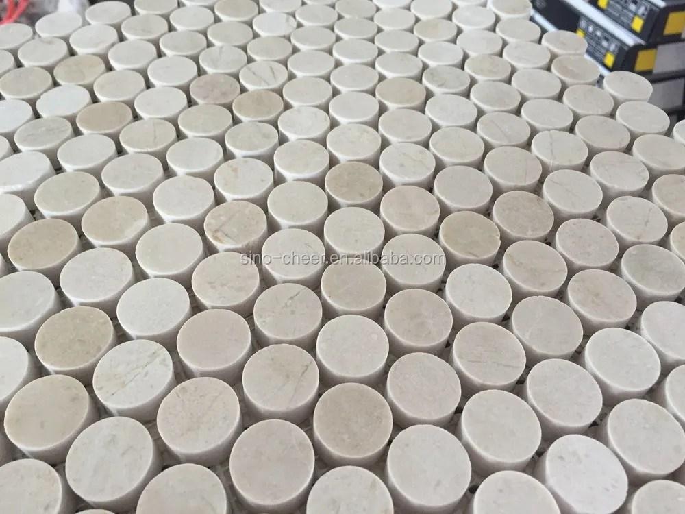travertine kitchen backsplash tables and more 20毫米bianco carrara 白色大理石 石材马赛克墙 地板 浴室 厨房硬币圆 厨房