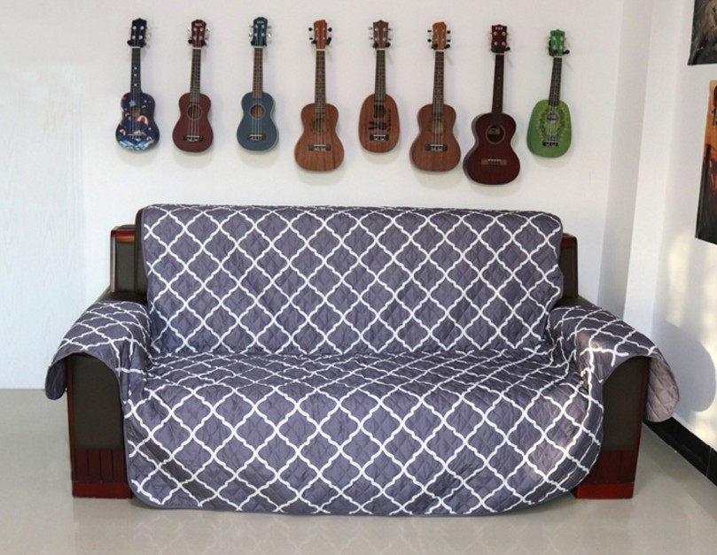 sofa waterproof cover teal sofas for sale new style reversible protector printed quilted 100 furniture