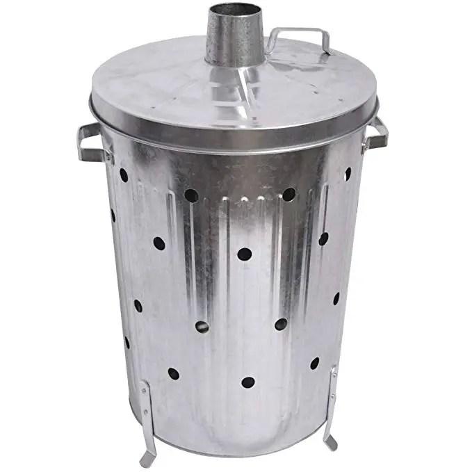 poubelle de ordures de jardin en acier galvanise 1200 l 90l buy poubelle d incinerateur poubelle d incinerateur de jardin poubelle d incinerateur