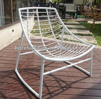 White Powder Coated Aluminum Outdoor Furniture